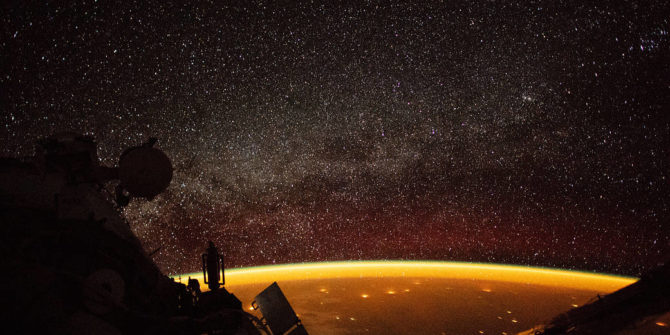 Earth Enveloped in Airglow